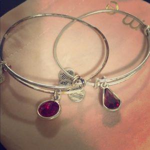 Set of Alex & Ani Charm Bracelets